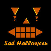 Sad Halloween wallpaper background — Stock Photo