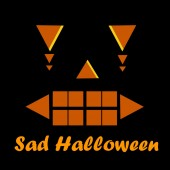Sad Halloween wallpaper background — Foto de Stock