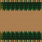 Weihnachtsbaum-Frame Hintergrund — Stockfoto