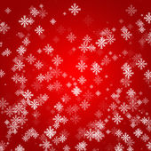 Abstract red background layout design with snow — Stock Photo