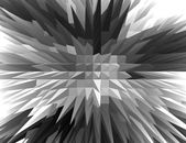 3D Black and white Spiky pyramid with Bird eyes view. — Stock Photo