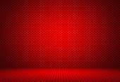 Abstract Red Polka dots background Christmas Valentines layout d — Stock Photo