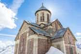Church in the mountains. Georgia, Gudauri — Stock Photo
