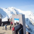 View of the Alps from Aiguille du Midi mountain in the Mont Blanc massif in the French Alps. Summit tourist station in foreground. Alps, France, Europe. — Stock Photo #62107635