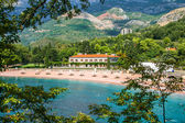 He Sveti Stefan beach — Stock Photo