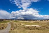 Beautiful view of golf field — Stock Photo