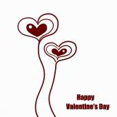 Valentines day cute hearts.Vector illustration — 图库矢量图片