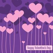 Happy valentines day cards with hearts — Vector de stock