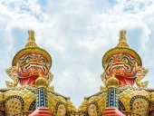Gaint in Wat Pha Keaw, Temple, Asia, Thailand — Stock Photo