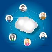 Cloud Human Resources — Stock Vector