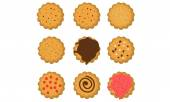 Cookies set — Stock Vector