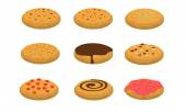 Cookies 2 Collection set — Stock Vector