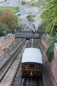 Funicular in Budapest, Hungary — Stock Photo