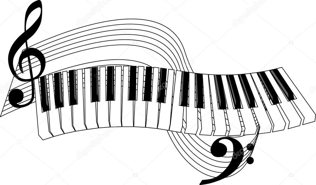 Piano Keybaord Tattoo Clipart Designs