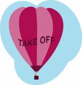 Balloon Take Off — Stock Vector