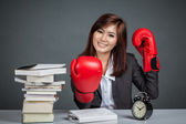 Asian businesswoman ready for hard work — Stock Photo