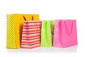 4 Colorful shopping bags — Stock Photo