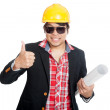 Asian engineer man show thumbs up — Stock Photo #55563707