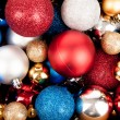 Many colorful baubles  for christmas tree — Stock Photo #58375383