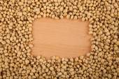 Soybeans with rectangular copy space — Stock Photo