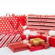 Red gift boxes and shopping bags — ストック写真 #60544363