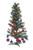 Christmas tree with ornament, bauble, and decoration — Stock Photo