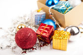Christmas tree bauble ,ornament in a box — Stock Photo