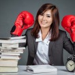 Asian businesswoman ready to fight — Stock Photo #62651113