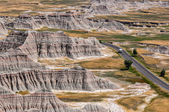Lonely Campervan in Badlands National Park, South Dakota, USA — Stock Photo