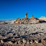 Tres Marias Rocks in Valle de la Luna near San Pedro de Atacama, — Stock Photo #53274549