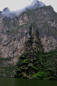 Beautiful Waterfall in Canyon of Sumidero, Mexico — Stock Photo