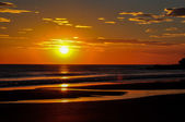 Beautiful sunsets of Playa El Zonte, El Salvador — Stock Photo