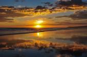 Beautiful sunsets of Playa el Cuco, El Salvador — Stock Photo