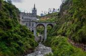 Las Lajas Church in South of Colombia — Stock Photo