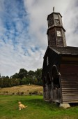 Gorgeous Colored and Wooden Churches, Chiloe Island, Chile — Stock Photo