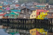 Tranquility and reflections, Chiloe Island, Chile — Stock Photo