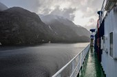 Crossing fjords in Southern Chile — Stock Photo