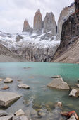 The three Torres in Parque Nacional Torres del Paine, Chile — Stock Photo