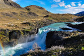 Waterfalls in Parque Nacional Torres del Paine, Chile — Stock Photo