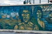 Wall painting in Puerto Natales, Chile — Stock Photo