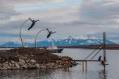 By the waterside in Puerto Natales, Chile — Stock Photo