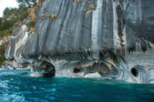 Marmol Cathedral rock formation, Carretera Austral, HIghway 7, C — Stock Photo