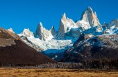 Landscapes of South Argentina, in the Fitz Roy trail — Stockfoto