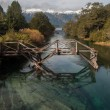 Old wooden bridge on Seven Lakes Road, Argentina — Stock Photo #54700175
