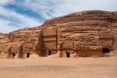 Nabatean tombs in Madaîn Saleh archeological site, Saudi Arabia — Stock Photo