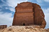 Nabatean tomb in Madaîn Saleh archeological site, Saudi Arabia — Stock Photo