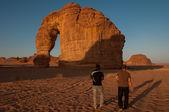 Eleplant Rock formation in the deserts of Saudi Arabia — Stock Photo