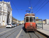 Old red tram — Foto Stock