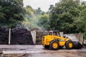 Steaming compost — Zdjęcie stockowe