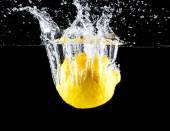 Lemon splashing — Stock Photo